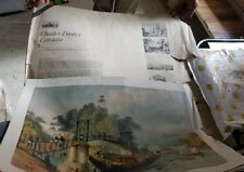 Old Vintage Charles Doyly's Calcutta Engravings Folder from India 1950