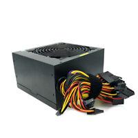 New 680 Watt ATX Power Supply PSU 20//24 Pin SATA Molex PCIE Single 12CM Fan Gold