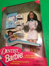 1997 Talking Dentist Dr. Doctor Barbie Kelly Doll Set 17707 Hispanic Teresa NRFB