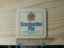 Beermat Coaster Krombacher Pils mit felsquellwasser gebraut Germany beer BM859
