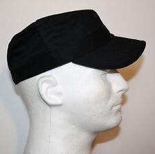100% COTTON CADET MILITARY STYLE HAT ARMY CASTRO CAP - CAMO BLACK KHAKI WHITE C1
