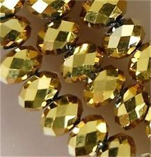 10mm Gold Swarovski Crystal Faceted Abacus Loose Beads 70pcs