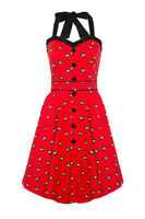 Women's Cute 8 Balls Halterneck 50's Rockabilly Retro Flared Summer Dress