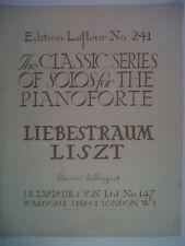 piano LISZT Liebestraum, Edition Lafleur