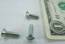 "Lot 200 #6-32 x 1/2"" Oval Head Screws Zinc Plated Steel, Electrical Switch Cover"