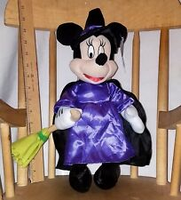 """NWT Disney MINNIE MOUSE as HALLOWEEN WITCH Big 16"""" plush stuffed TOY FACTORY nos"""