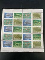 Canada Scott #1306, 1307, 1308, 1309 Prehistoric Life Full Pane CV $20 MNH