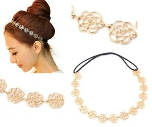 Hollow Rose Gold Metal Chain Flower Hairband / Headband / Alice Band