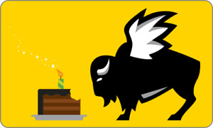 Buffalo Wild Wings Gift Card - Birthday Cake - $25 $50 or $100 - Email delivery
