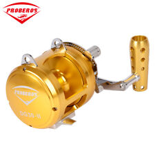 1Pc Proberos Aluminum CNC Machined Fishing Jigging Reel Drag Big Trolling Reel