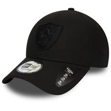 NEW ERA OAKLAND RAIDERS BASEBALL CAP.9FORTY NFL BLACK ADJUST DIAMOND ERA HAT 9W2