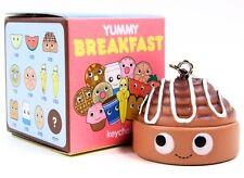 Kidrobot Yummy Breakfast CINNAMON BUN Roll Keychain Zipper Pull Vinyl Figure