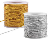 109 Yards 2mm Metallic Cord Braided Tinsel Cord for DIY Gift Wrap Ribbon Making