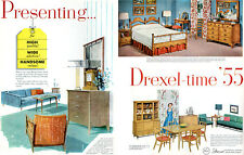 Drexel Furniture PROFILE New Today's Living CIRCLE D Biscayne 6-PG PRINT AD 1955