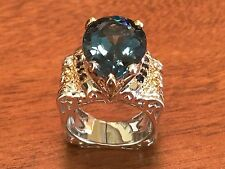 Gems en Vogue 12 ct London blue sterling silver ladies ring
