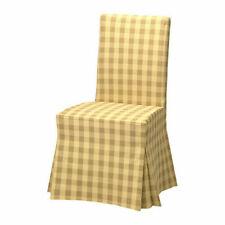 HENRIKSDAL Chair cover, long Skaftarp yellow - 100% cotton - IKEA - 003.710.34