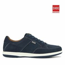 Hush Puppies DEAN Navy Mens Lace-up Casual Nubuck Leather Shoes