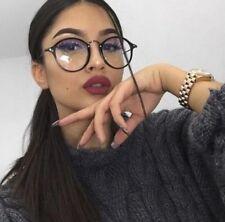 New Designer Woman Retro Look Round Glasses Anti Blue Light Filter Optical Frame