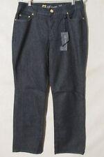 F1608 Anne Klein NWT Navy Blue Boot Cut Jeans Women's 32x32