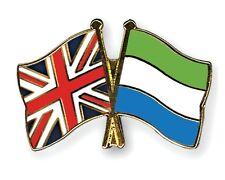 United Kingdom & Sierra Leone Friendship Flags Enamel Lapel Pin Badge
