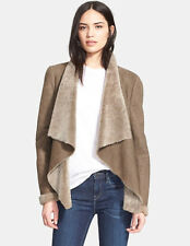 NWT $1475 VINCE Cascade Genuine Shearling Jacket olive real fur sz L sale NEW
