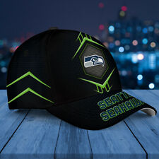 Seattle Seahawks Classic 3D Cap Nfl Football 3D Hat Apparel Cap For Fan.