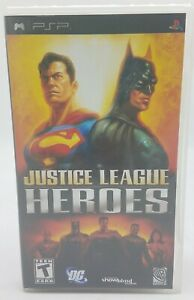 Justice League Heroes DC Comics  PSP game - Complete & Tested FREE US SHIP