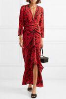 NEW Rixo London - Adriana Animal-Print Silk Maxi Dress Sz XS,S, M,L,XL