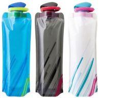 Sports Travel Portable Flexible Collapsible Foldable Reusable 700ml Water Bottle