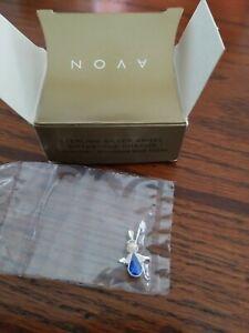 NIB Beautiful Avon 925 Sterling Silver Angel Birthstone Blue Topaz Charm Pendant
