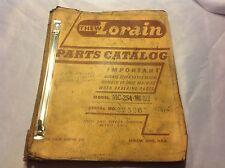 Thew Lorain Parts Catalog MC-254 MC-6x6 CRAWLER SHOVEL