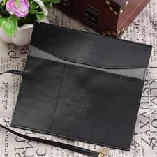 Retro Vintage Roll Leather Pen Pencil Case Make Up Cosmetic Pouch Purse Bag Box