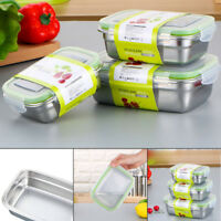 Stainless Steel Thermal Insulated Lunch Box Bento School Picnic Food Container