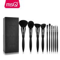10Pcs Powder Makeup Brush Set Eyeshadow Eyeliner Lip Brush Cylider Case Tool PRO