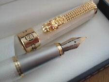 Splendide ecrin stylo Plume18kgpREGENTnacre blanc,  luxe pas cher, vente limitee