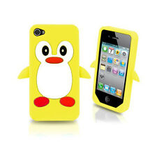 Yellow Penguin Silicone Case / Cover for Iphone 4 / 4S