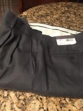 NEW Elite By Eddie Domani Gray Dress Pant Sz 42 x 32 Designed in Italy Pleated