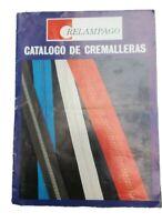 CATALOGO CREMALLERAS - CARTA DE COLORES  RELAMPAGO ZIPP  COATS FABRA  BARCELONA