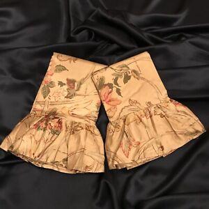 Ralph Lauren Guinevere Aragon Cotton-Sateen Pair STD Ruffled Pillowcases NEW!