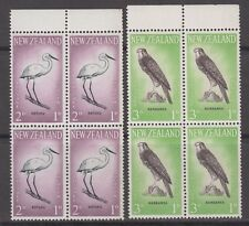 New Zealand 1961 SG806-807 Health Stamps Birds Mint MNH blocks of four