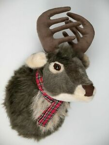 Reindeer Stag Head Wall Hanging Decoration Mounted Plush Lightweight Hunting