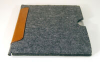 reMarkable tablet felt and leather patch sleeve case, UK MADE, PERFECT FIT!