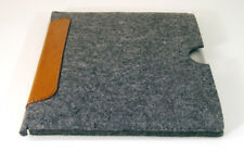 """iPad Pro 11"""" (2018) felt and leather patch sleeve case, UK MADE, PERFECT FIT!"""