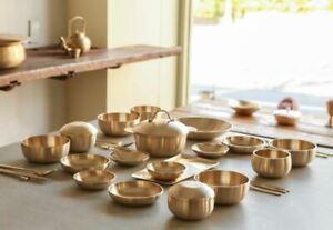 "[100% Hand-made] Korean Yugi Bowl & Plate Set, Dinnerware / by Artisan ""金壽榮"""