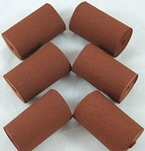 6 Mid Brown Wide Crepe paper EACH Streamers 80mm x 10metres quauliy decoration