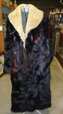 "Original Authentic Early 1900's Antique full Length Bear Skin Coat 52"" In Length"