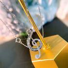 925 Silver Necklaces Pendants Cubic Zirconia Women's Luxury Anniversary Jewelry