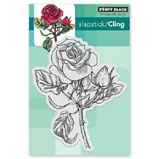 PENNY BLACK RUBBER STAMPS SLAPSTICK CLING RED BLUSH ROSE NEW CLING STAMP