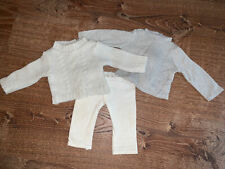 American Girl Cream Silver Sparkle Cable Knit Sweater Leggings Outfit