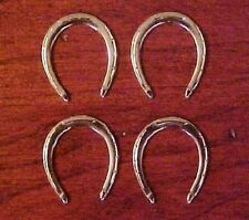 Marx / Johnny West 1:6 Scale MODEL HORSE SHOES (Set-of-4) - Silver-toned